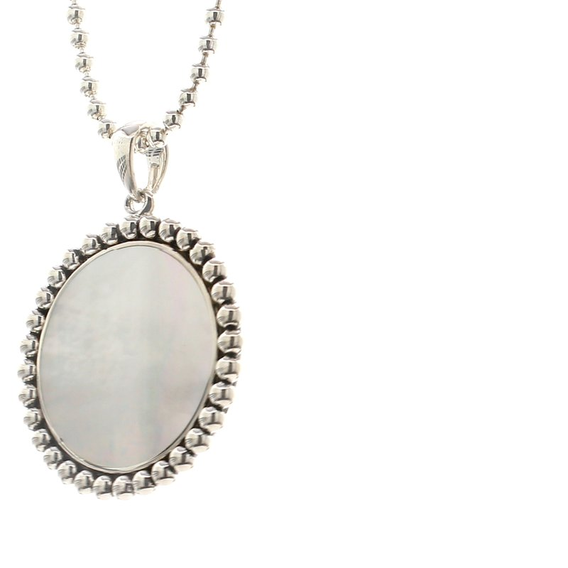 Lagos Mother of Pearl Circle Pendant