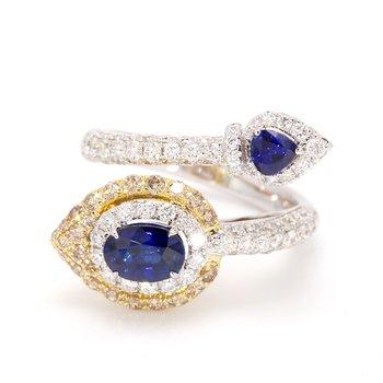 Sapphire Bypass Ring