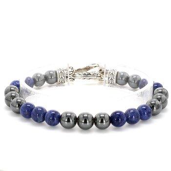 Hematite & Sodalite Bead Bracelet