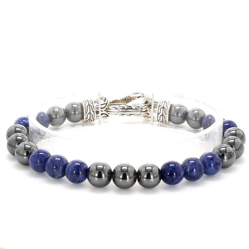 John Hardy Hematite & Sodalite Bead Bracelet