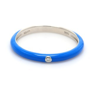Stackable Ceramic & Diamond Ring