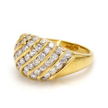 Diamond Multi-Row Ring