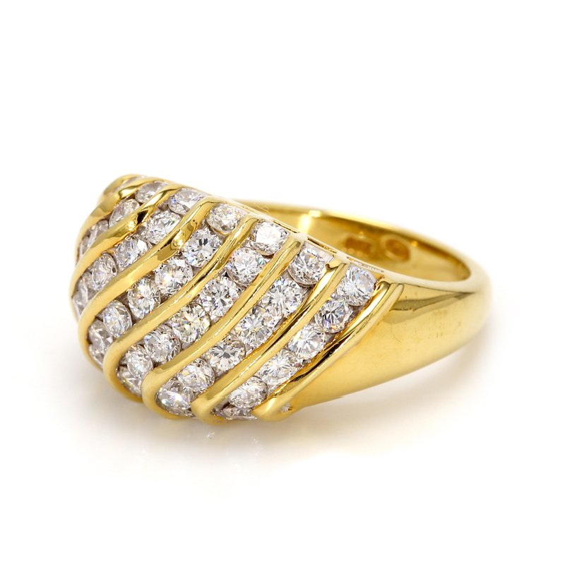 Estate Diamond Multi-Row Ring