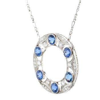 Sapphire Fixed Pendant Necklace