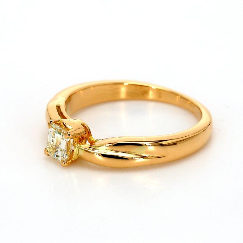 Estate Emerald Cut Solitaire Engagement Ring