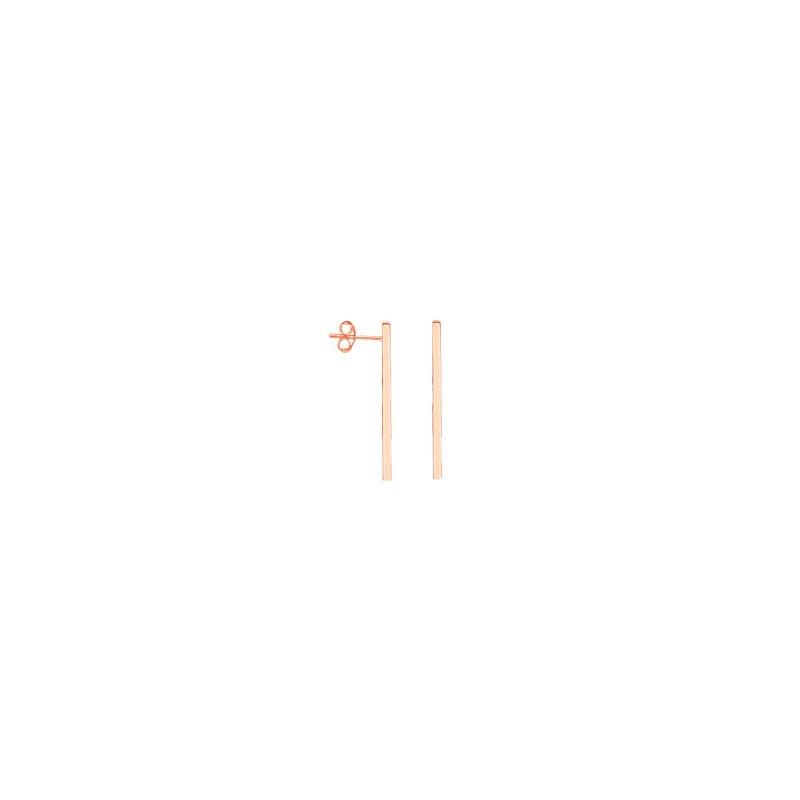 Spicer Greene Rose Gold Bar Stud Earrings