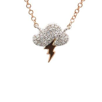 Diamond Storm Cloud Necklace