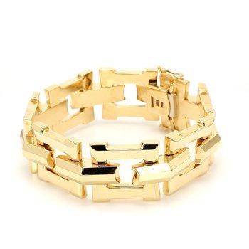 Gold Fancy Link Bracelet