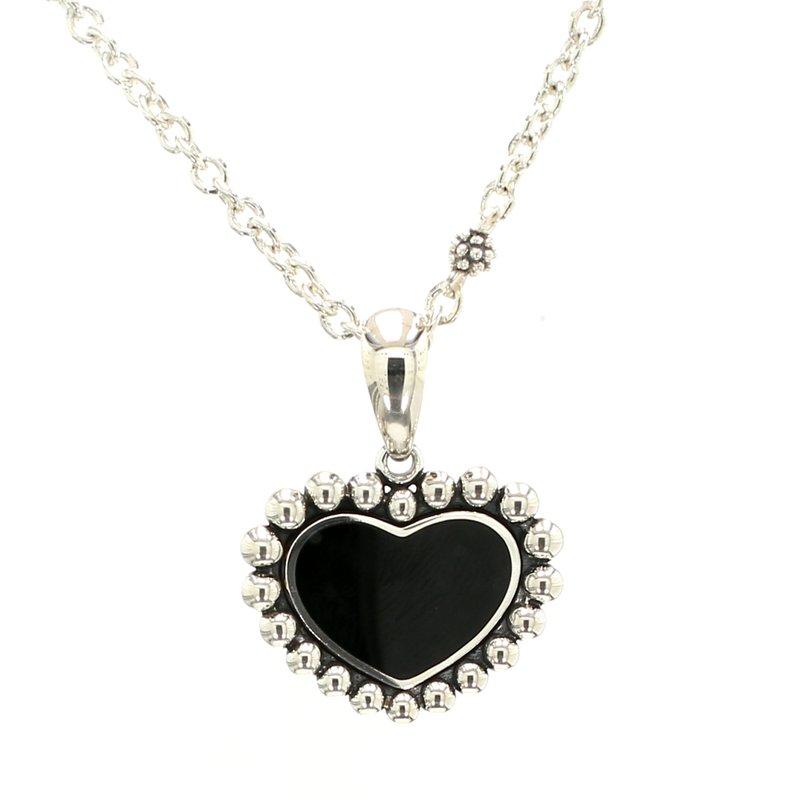 Lagos Black Onyx Heart Pendant