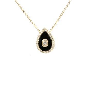 Diamond & Black Onyx Pendant