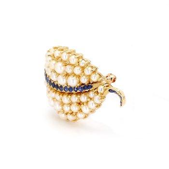 Seed Pearl Pin