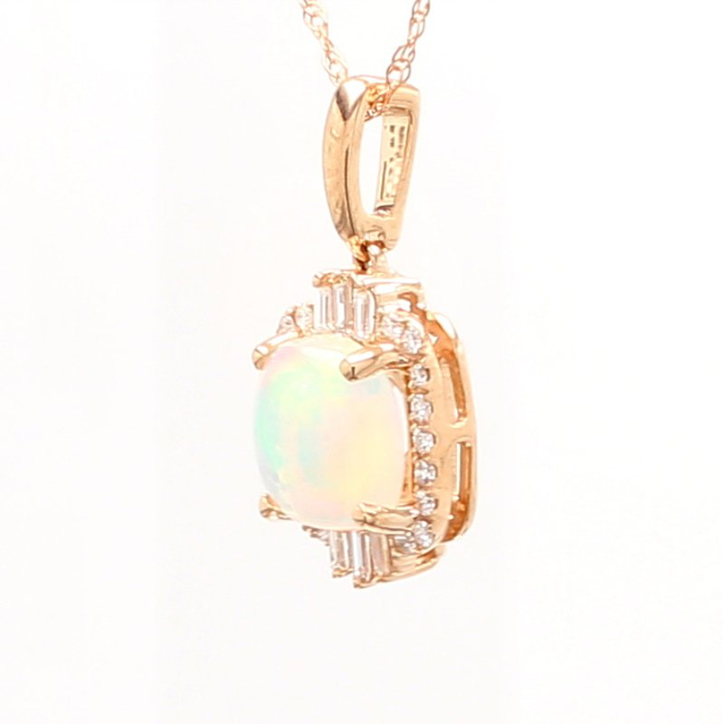 Color by Spicer Greene White Opal Halo Pendant