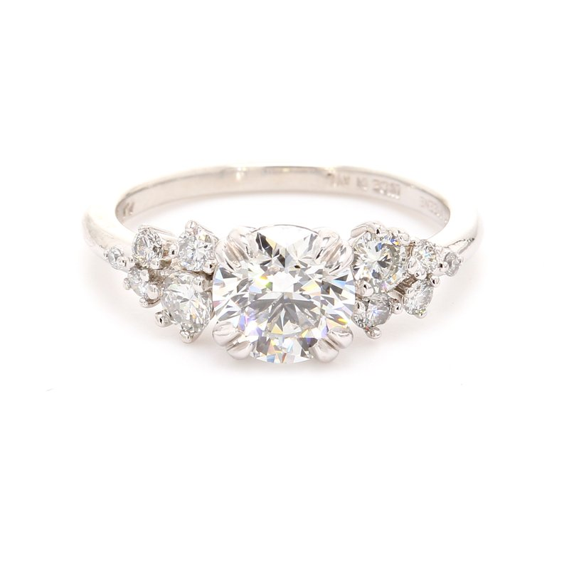 Spicer Greene Solitaire with Diamonds Engagement Ring