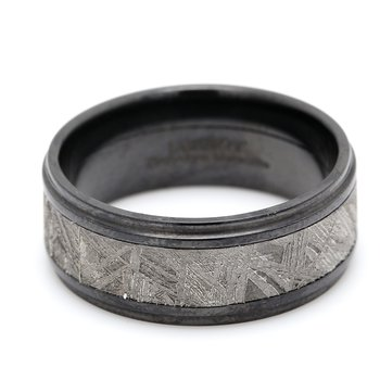 Zirconium & Meteorite Wedding Band