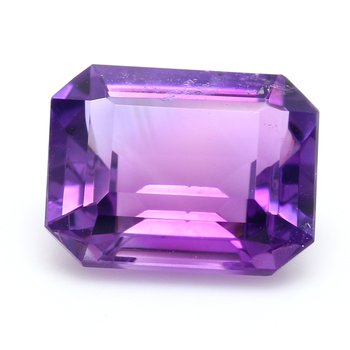 One Emerald Cut Amethyst Quart