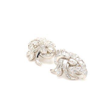 Diamond Omega Back Earrings