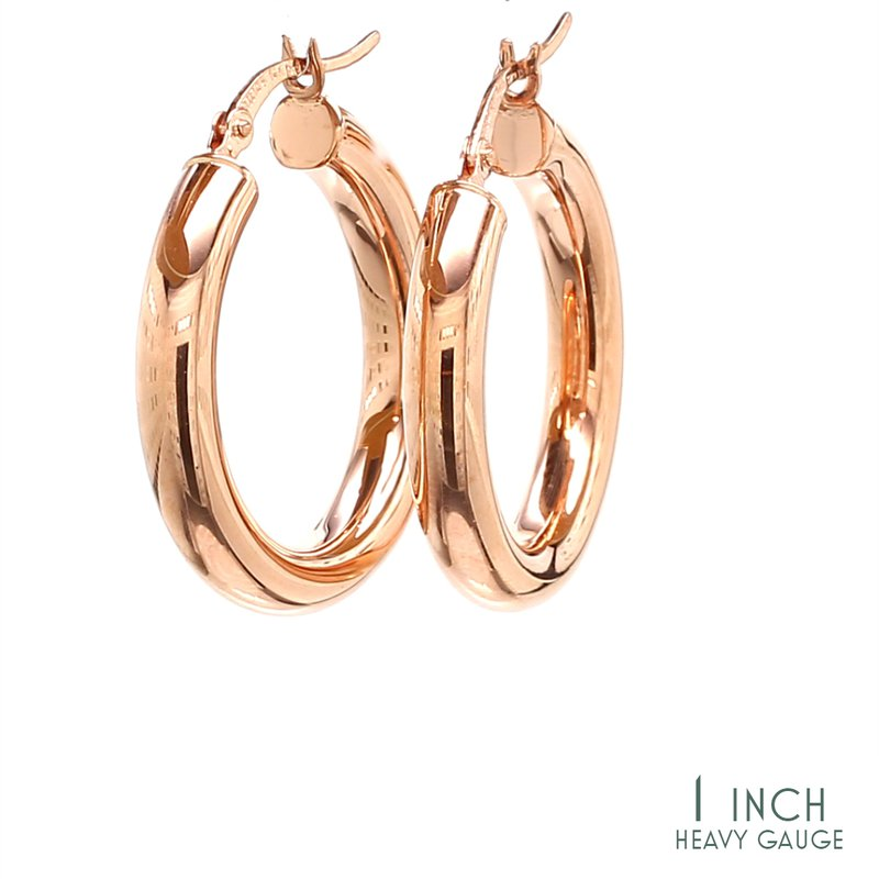 Spicer Greene Rose Gold Hoop Earrings