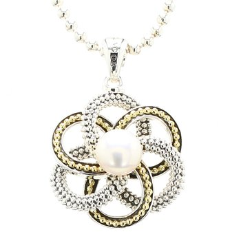 Freshwater Pearl & Love Knot Pendant