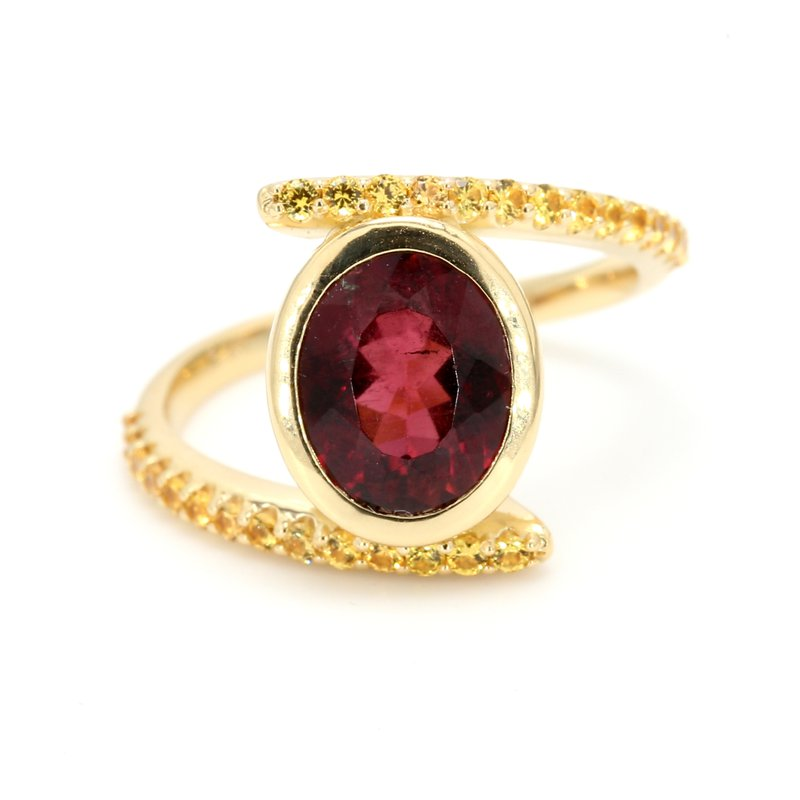 Color by Spicer Greene Bypass Rubellite Ring