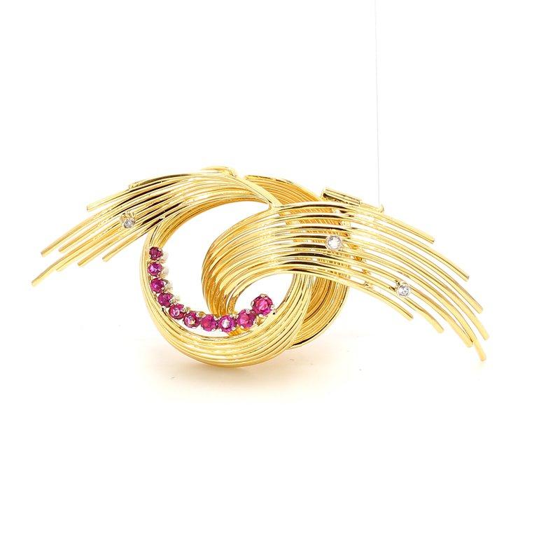 Estate Ruby Swirl Pin