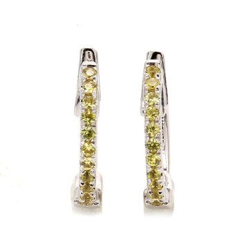 Yellow Sapphire Huggie Earrings