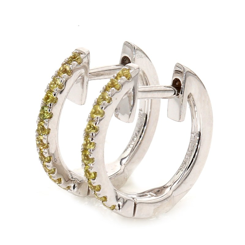 Color by Spicer Greene Yellow Sapphire Huggie Earrings