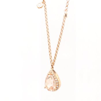 Morganite Fixed Pendant Necklace