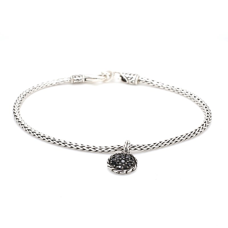 John Hardy Silver Bracelet with Black Sapphires
