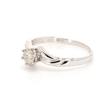 Solitaire Bypass Engagement Ring