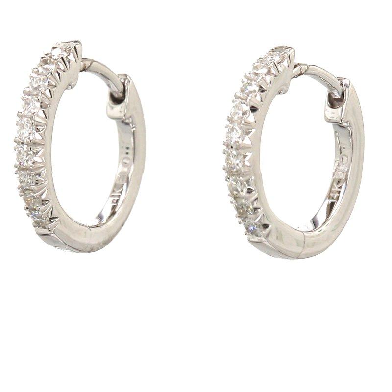 Spicer Greene Diamond Huggie Hoop Earrings