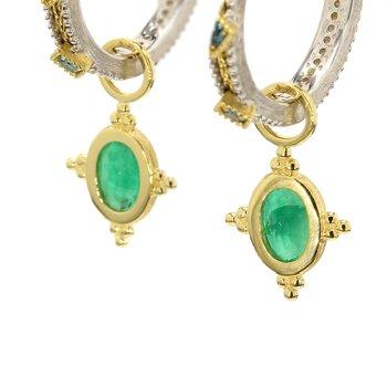 Emerald Ear Charms
