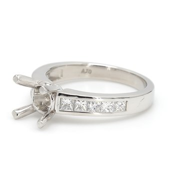 Platinum Semi Mount Engagement Ring