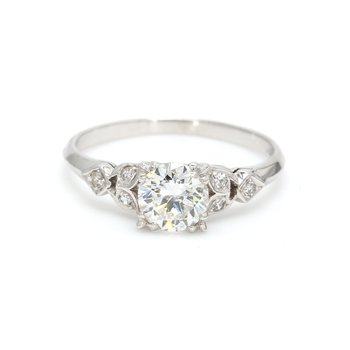 Solitaire with Diamonds Engagement Ring