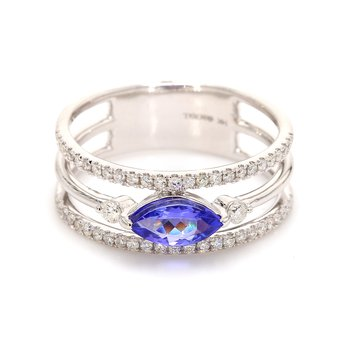Tanzanite Multi-Row Ring