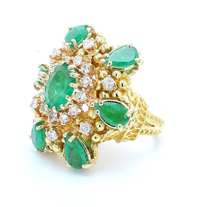 Estate Emerald Cluster Ring