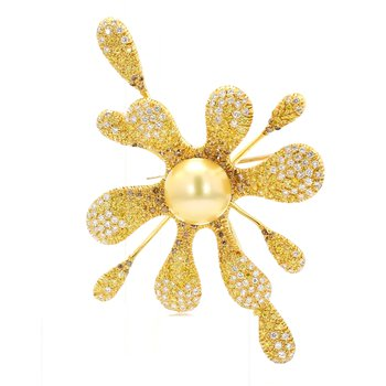 Golden South Sea Pearl Pin