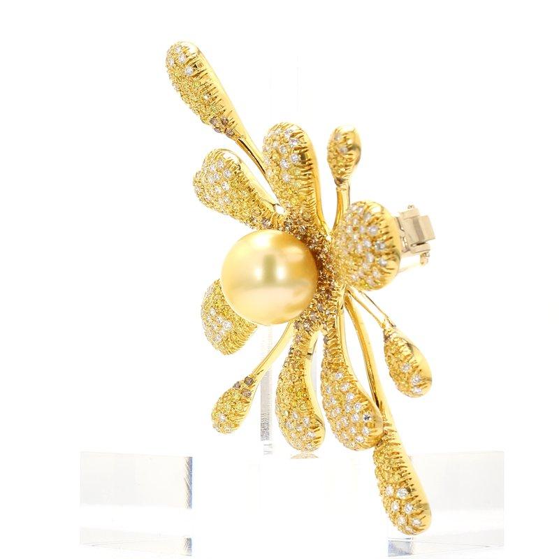 Estate Golden South Sea Pearl Pin