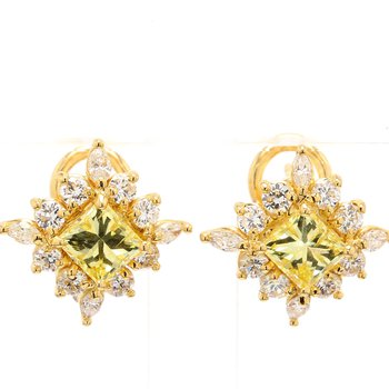 Diamond Omega Back Earrings