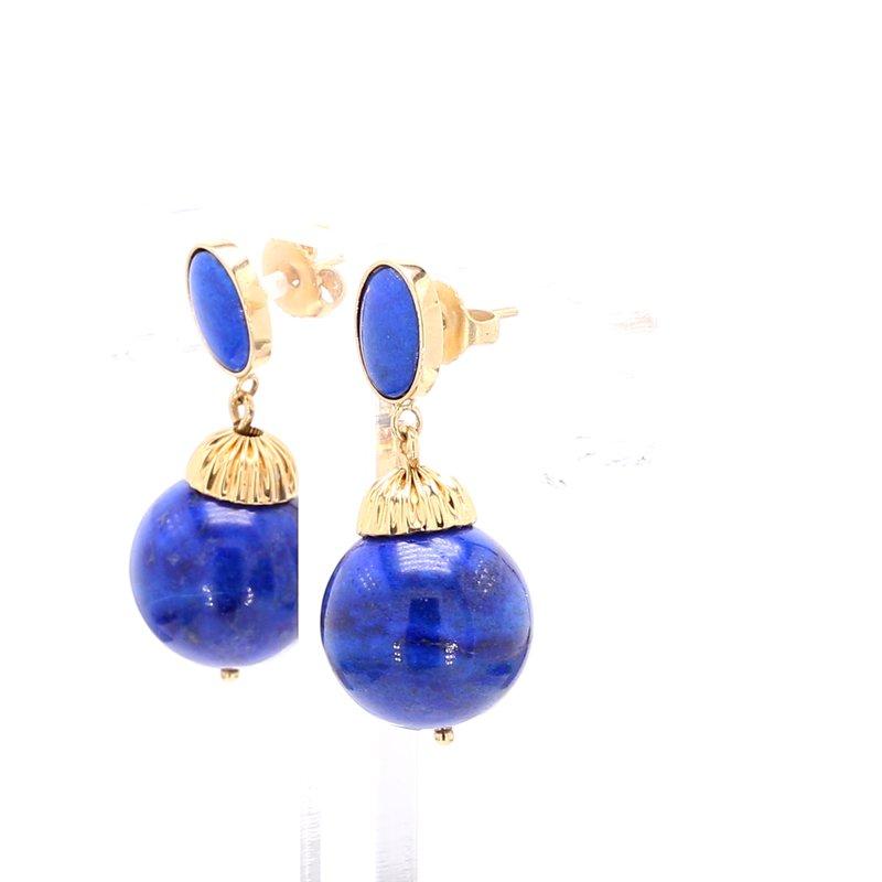Estate Lapis Lazuli Drop Earrings