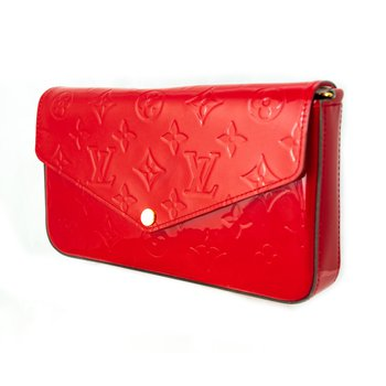 Louis Vuitton Red Monogram Vernis Felicie Pochette