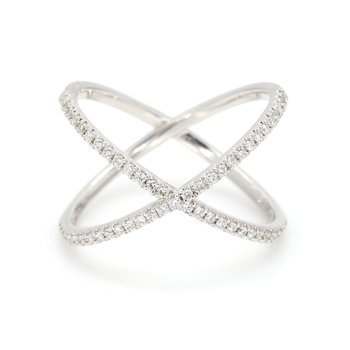 """X"" Diamond Ring"
