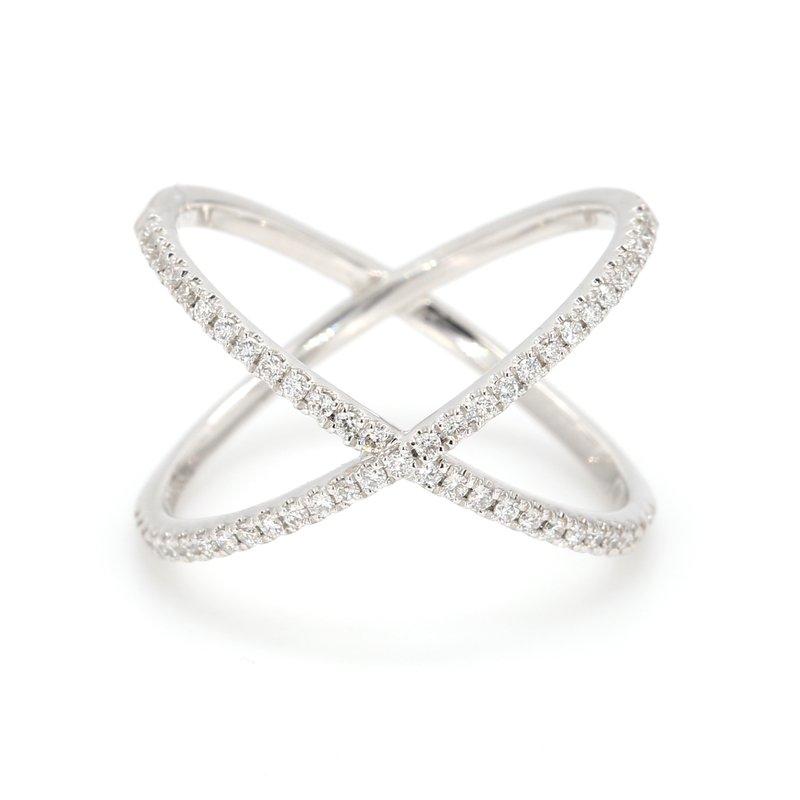 "Henri Daussi ""X"" Diamond Ring"