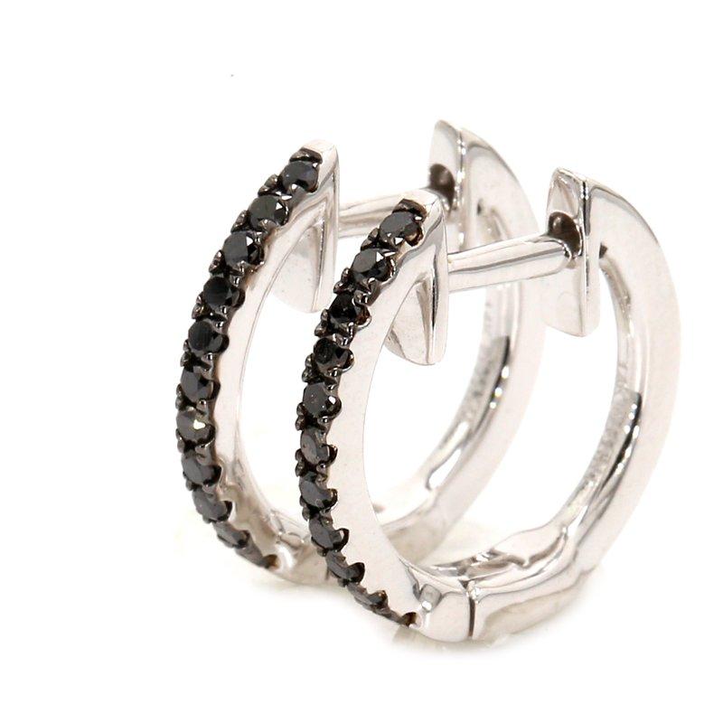 Color by Spicer Greene Black Diamond Huggie Earrings