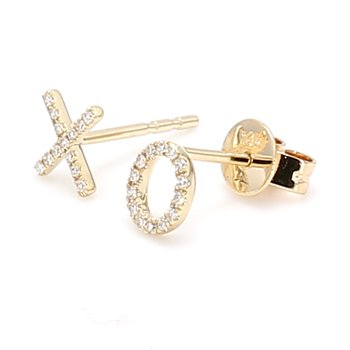 Diamond XO Earrings