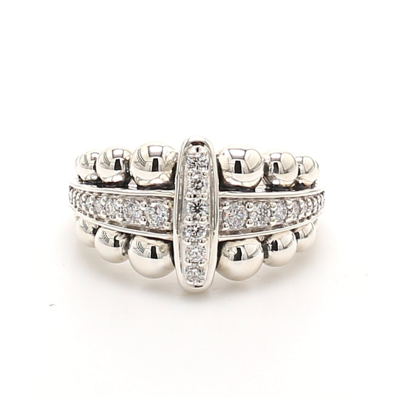 Lagos Sterling Silver Diamond Ring