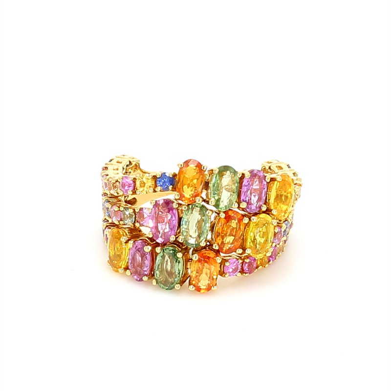 Color by Spicer Greene Rainbow Sapphire Ring