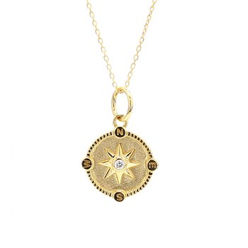 Diamond Compass Pendant
