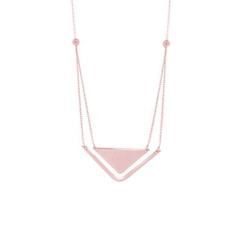 Geometric Two-Strand Necklace