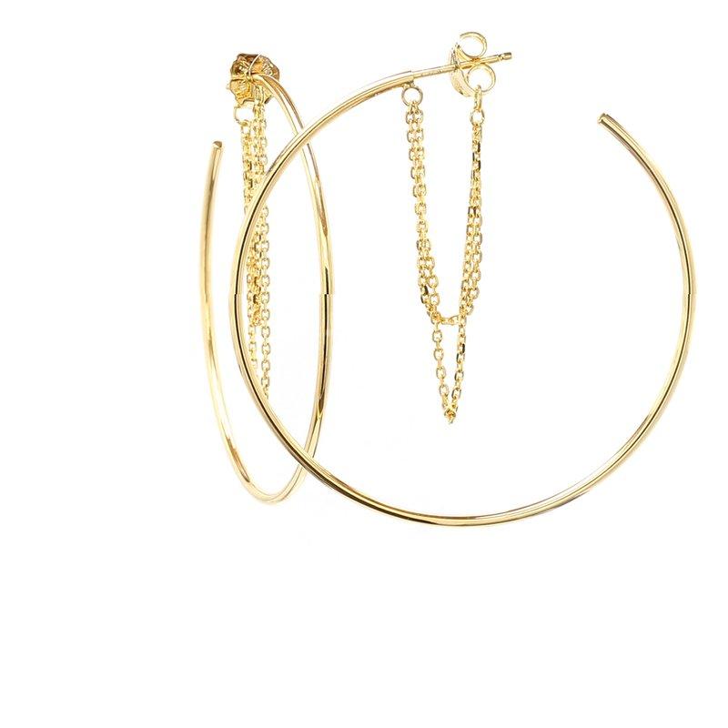 Spicer Greene Yellow Gold Hoop Earrings
