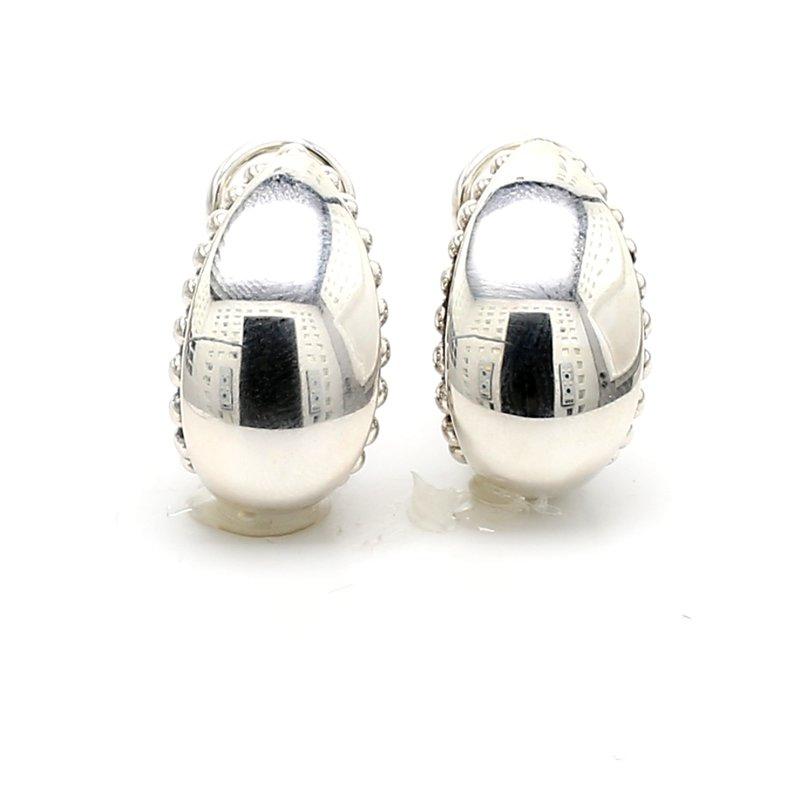 Lagos Silver Omega Back Earrings